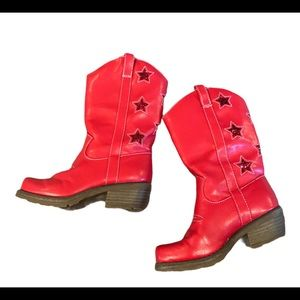 Gymboree Fourth Of July Red Cowboy Boots Stars 11